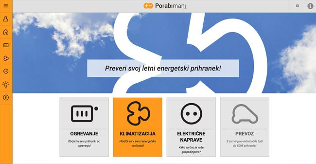 Spletna aplikacija Porabimanj / energetski svetovalec