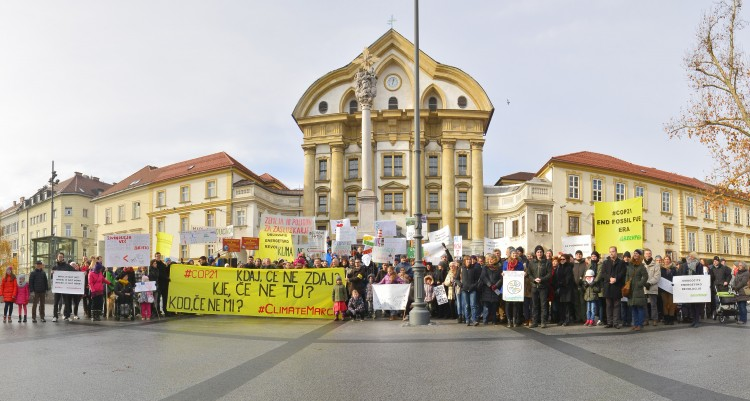 GLOBALE CLIMATE MARCH: V Ljubljani zahtevali ambiciozen in zavezujoč podnebni dogovor
