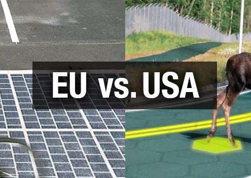 USA solarna cesta vs. EU solarna cesta