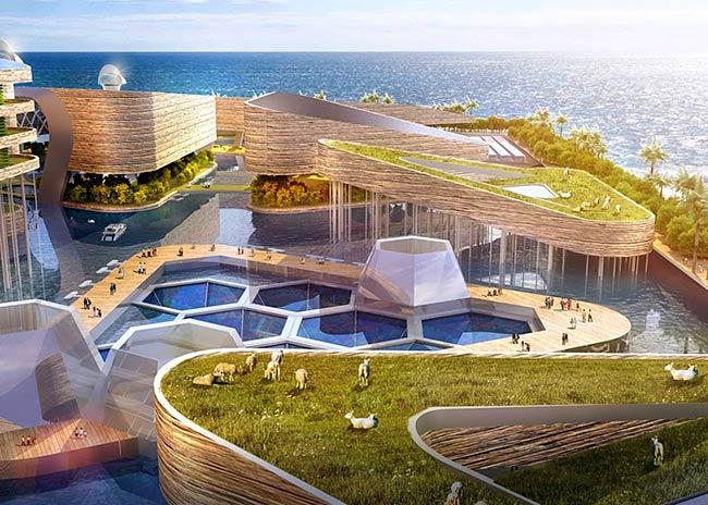 Obnovljivi viri energije - plavajoče mesto / Pozitivna energija