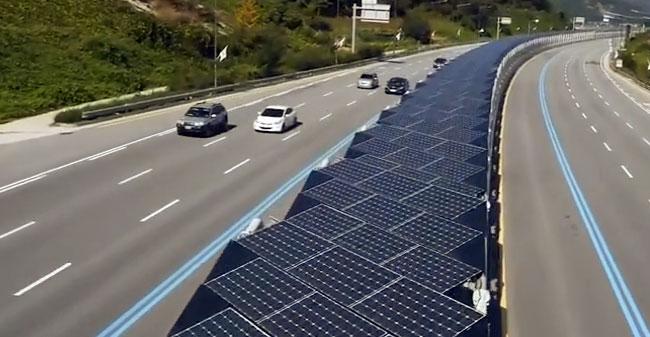 Kolesarska-solarna steza v Koreji