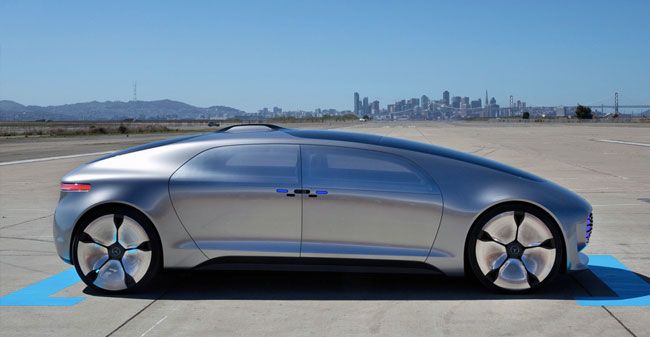 Koncept električnega samovozečega avtomobila