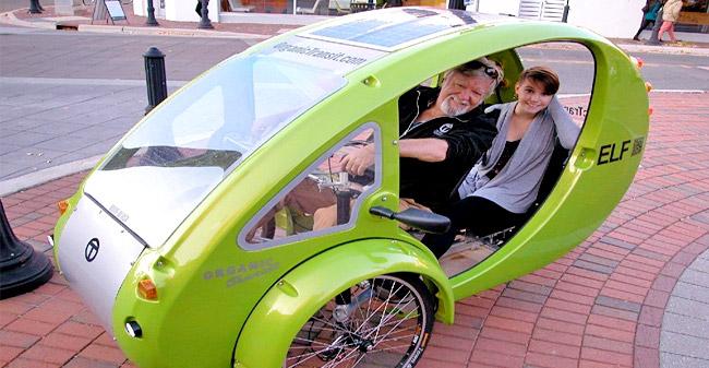 Solarni fitnes na treh kolesih - električno kolo s streho