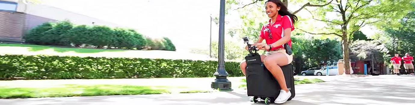 Električni kovček, ki vas odpelje do letališča!