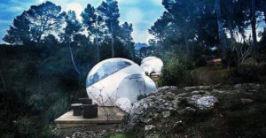 Mehurček-šotor s pogledom na zvezde