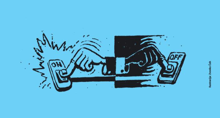Po uporabi izključiti ne pozabi! - Zaradi aparatov v stanju pripravljenosti (Stand-by) porabimo okoli 9% elektrike / Pozitivna energija / Ilustracija: Zvonko Čoh