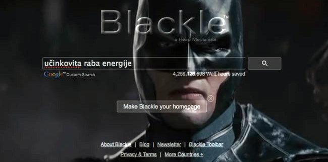 S črnim zaslonom prihranimo