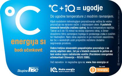 Oglas - varčevanje z energijo / Ad - energy saving