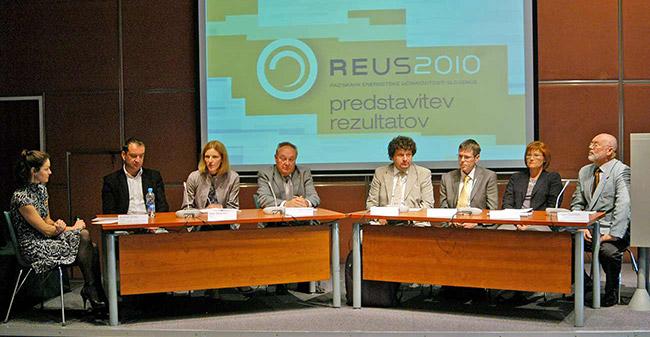 Predstavitev rezultatov REUS 2010