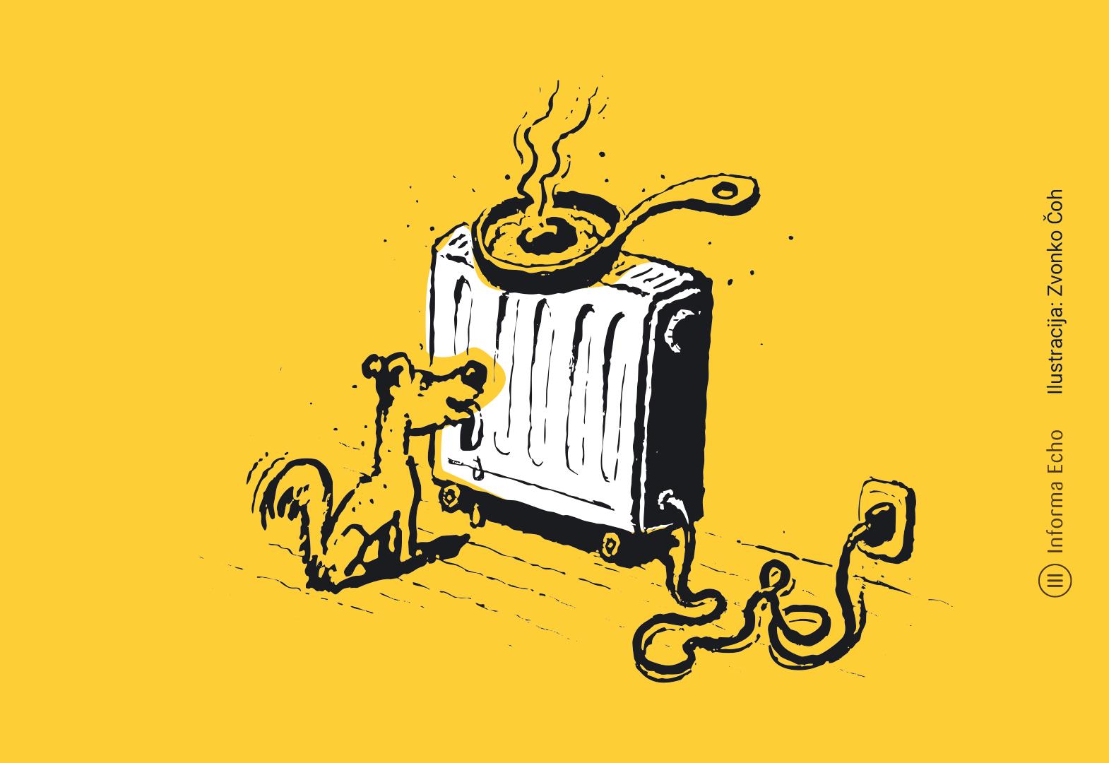 Z uporabo termostatskih ventilovlahko prihranimo / Pozitivna energija / Ilustracija Zvonko Čoh