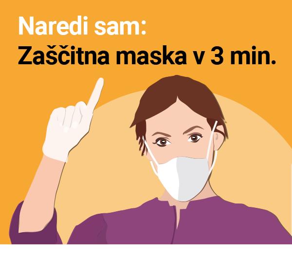 Naredi sam: Zaščitna maska v 3 minutah / PorabimanjINFO / Ilustracija: Branko Baćović