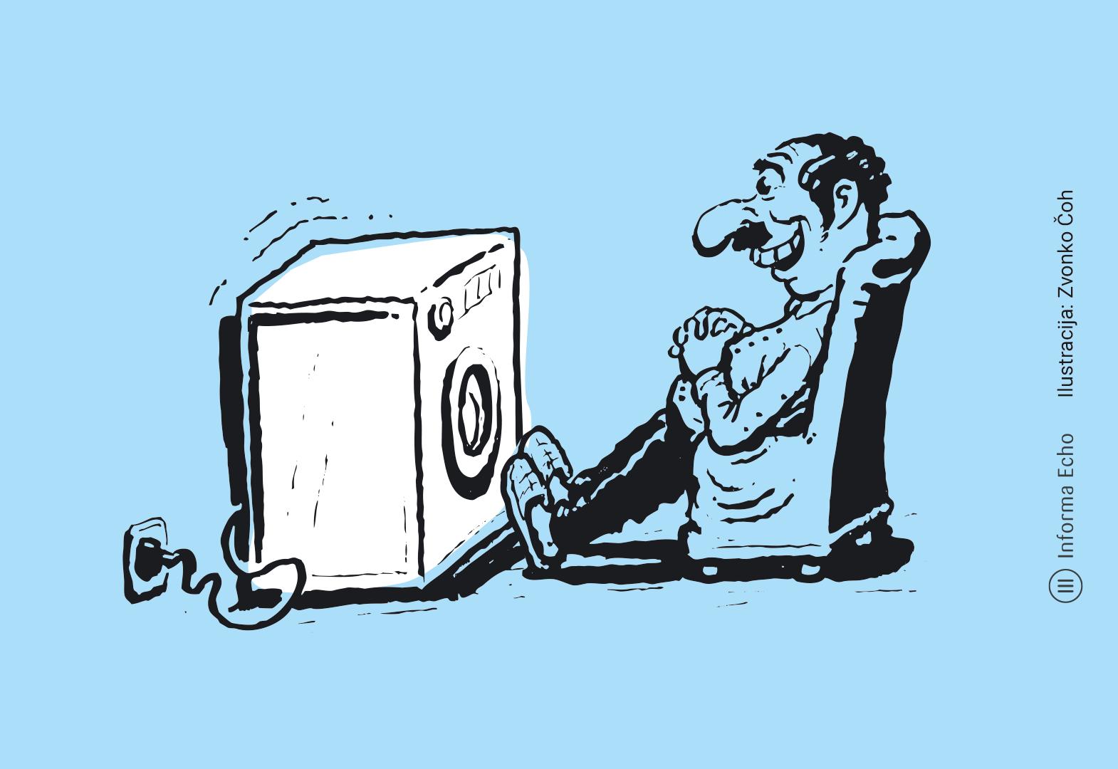 Posebni programi so vredni pozornosti - energetsko učinkovit pralni stroj / Pozitivna energija / Ilustracja: Zvonko Čoh