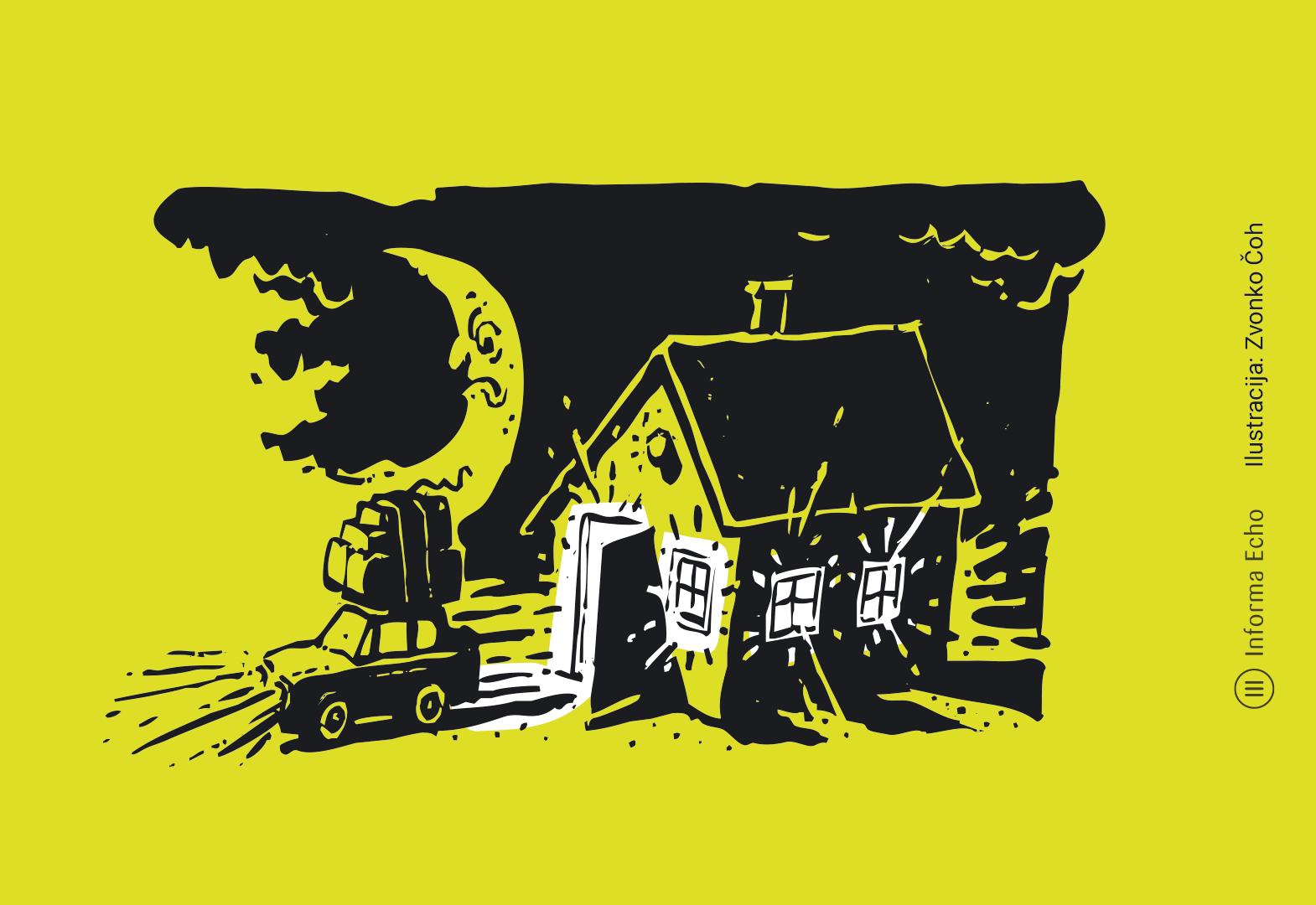 Ugašajmo luči ko jih ne potrebujemo / Pozitivna energija / Ilustracija: Branko Baćović