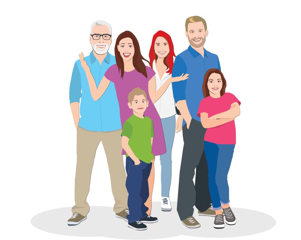 Družina Varčun - varčevanje z energijo / Pozitivna energija / Ilustracija: Branko Baćović